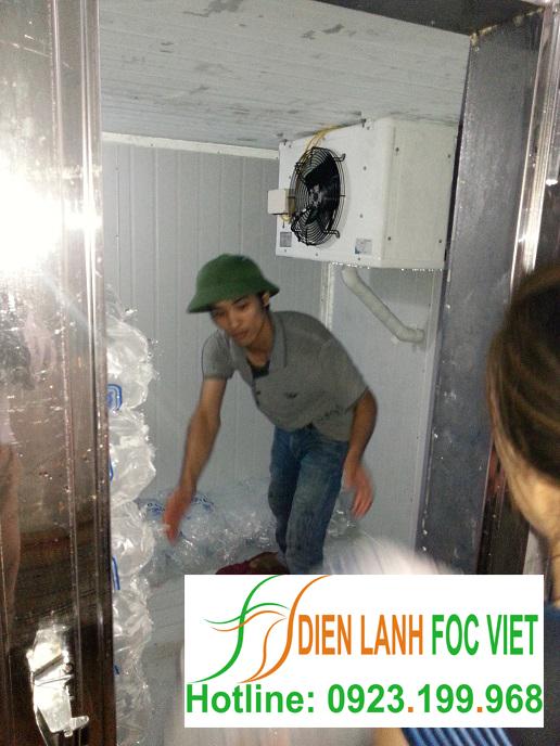 lắp đặt kho lạnh bảo quản đá viên, bảo quản kem