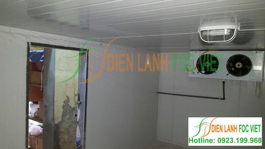 Kho lạnh bảo quản trái cây được thiết kế lắp đặt trong nhà, tận dụng triệt để không gian sẵn có
