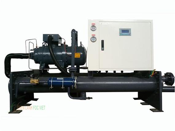 cấu tạo chiller giải nhiệt nước, máy làm mát nước bằng phương pháp giải nhiệt nước